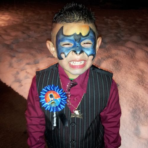 Batman Birthday! Could his smile get any bigger?
