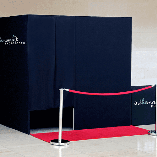 Renting a photo booth from In The Moment Photobooth means you get the luxury of a custom built booth. Our booth rentals are sure to impress!