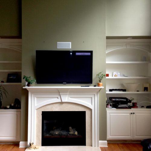 TV, Center Speaker and Rear Speakers Install 1