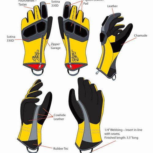 Illustration for sport gloves' manufacturer.