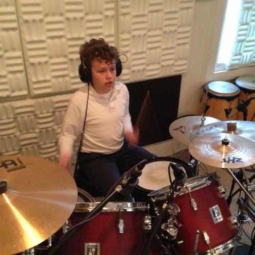 Recording the beat!