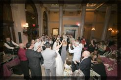 Clients dancing at an event performed by Sound Solutions DJ Services