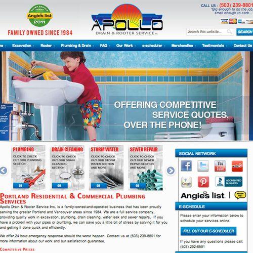 Managing all aspects of Apollo Plumbing Marketing.