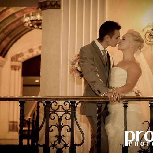 A romantic moment at The Intercontinental Hotel, downtown Chicago.
