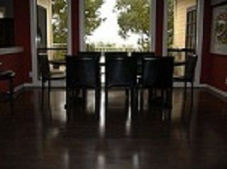 Solid Maple Floors Stained Dark!