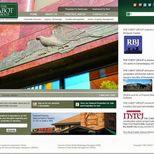 DNN powered website for The Cabot group, a property management company.