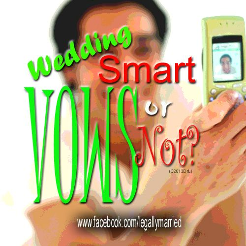 Do you like the idea of a bride and groom reading their marriage vows from a Smart Phone?