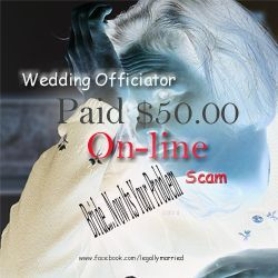 Ban $50.00 On-line Wedding Officiators?