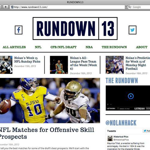 Logo and Web Design for a Sports Guru's Website