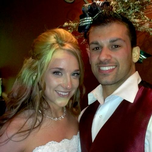Britney and Nick's wedding reception at the Blue Canyon in Twinsburg. Britney hired us using Thumbtack