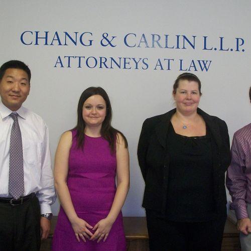 The whole Chang and Carlin, LLP team! David, Marina, Michelle, and John.