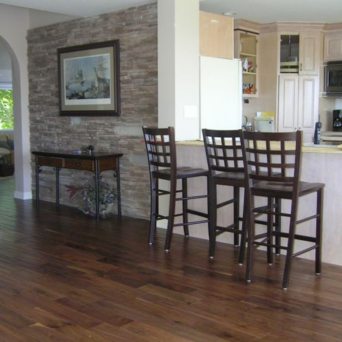 Stained walnut was the only gorgeous option for this La Costa home-enjoy.