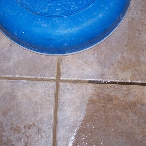 A his resolution close up of a tile cleaning we did in Fredericksburg Virginia