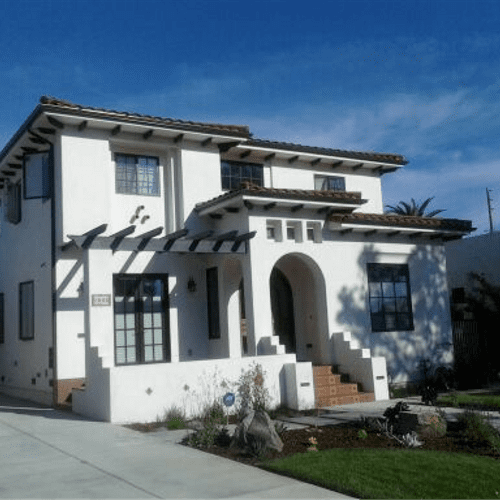 New 3500 sq. ft. two story new home with a Mediterranean/Spanish design motif in West L.A.