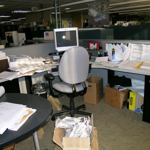 Office Cubicle Before