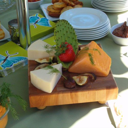 Deluxe Cheese tray with Cactus leaf