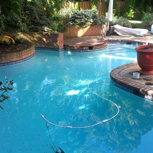 Swimming pool service. (regular service).