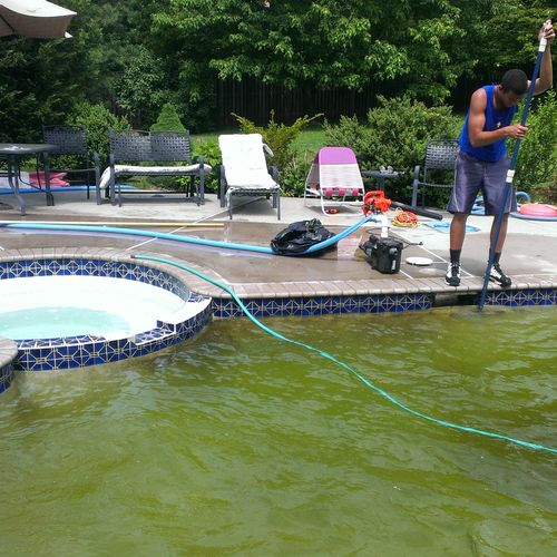 Swimming pool spring opening...