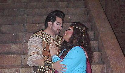 As Aida at Palm Beach Opera with tenor Gabriele Gonzales as Radames