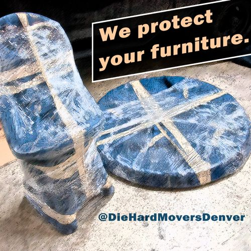 Padding and wrapping furniture is the correct and professional way to handle relocation. Whether moving on site, across town, or the country. Walls, door frames, corners and furniture all appreciate being treated right.
