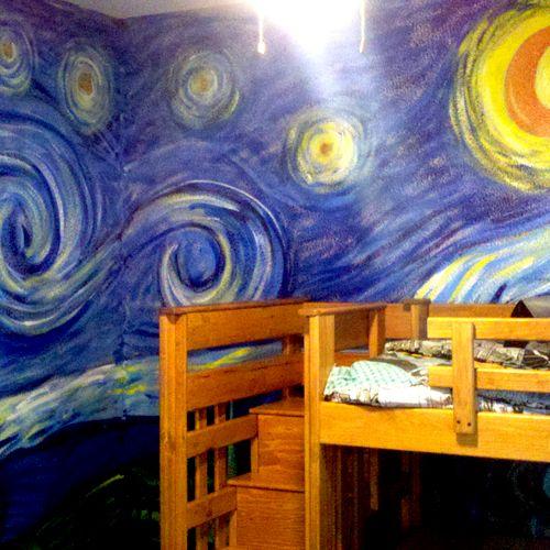 Childrens bedroom Vincent Van Gogh