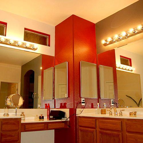 Custom painted master bathroom colors
