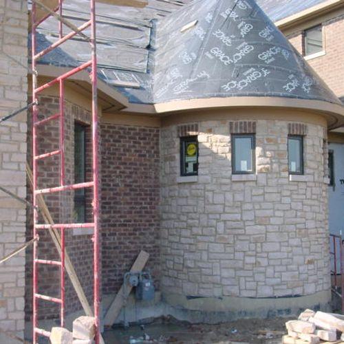 Stone work and brick work