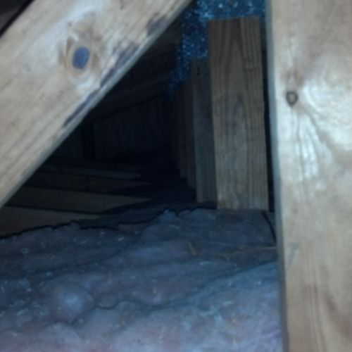 Accessing the attic even cramped ones is vital to knowing the structures soundness. Yoga come in handy here :)