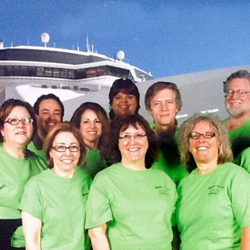 Me and the staff ready to board the NCL Spirit ship for the Holistic Community Cruise Into Mayan Country in January, 2012