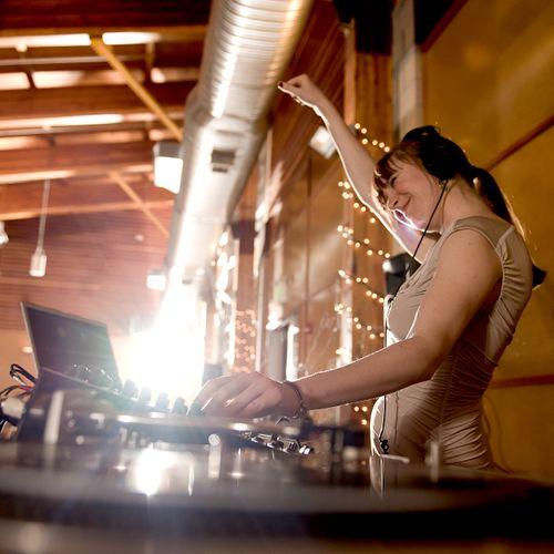 DJing wedding reception