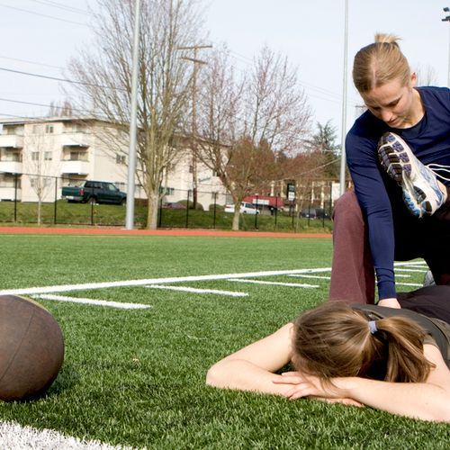 Stretching is part of every workout