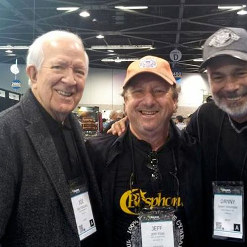With Joe Porcaro and Danny Seraphine, original drummer of the band Chicago.