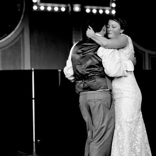 First Dance - A couple dances together for the first time as a married couple at the Crystal Ballroom in Portland, Oregon.