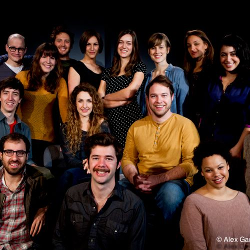 """Group Photos - Seattle's """"Satori Group"""", a respected theatre troupe, smiles for the camera."""