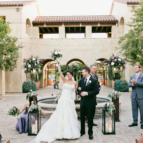 """The Happy Newlyweds just after saying"""" I DO"""" @SerraPlaza #InStyleEventCo"""