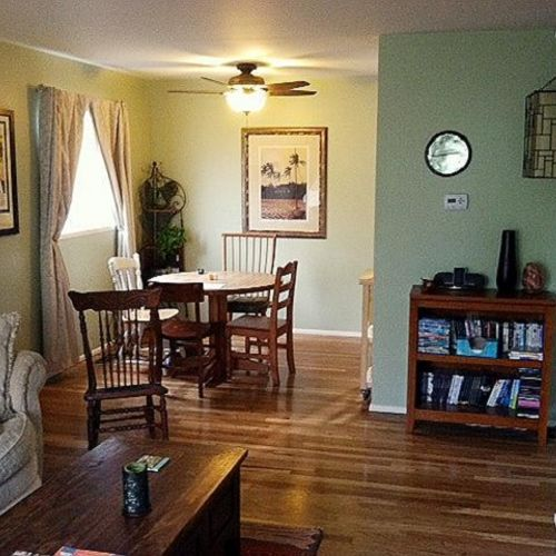 Living Room - Painting, Ceiling Fan Install, Window Treatments, Picture Hanging, Furniture Assembly