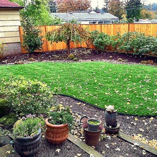 Landscaping - Sod, Edging, & Fence Staining