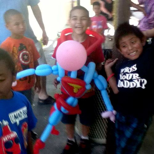 Raynbow makes special balloon creations, like at Jacob's birthday party
