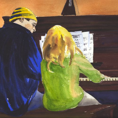 Watercolor painting from one of the moms of my piano students.