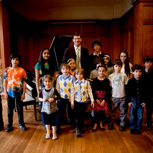 Picture from the spring piano recital last year.