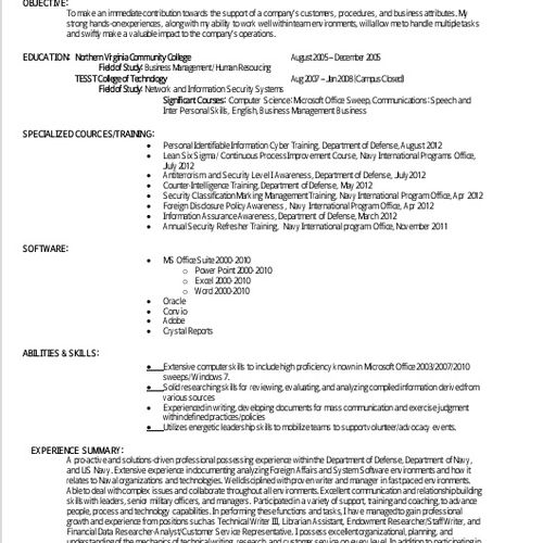 Customer Resume revamp 2013