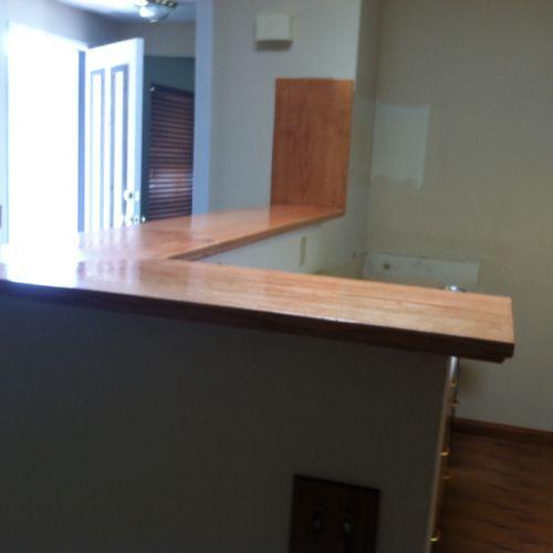 Oak counter in Escondido.