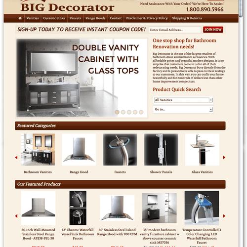 BigDecorator.com - Custom BigCommerce E-Commerce Web Development Project