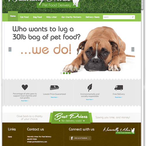Naturally Urban Petfood Delivery - Custom BigCommerce E-Commerce Web Development Project