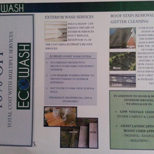 EcoWash Brochure and 10% Off Coupon