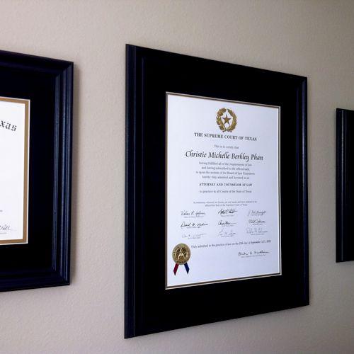 I graduated cum laude from SMU Dedman School of Law.