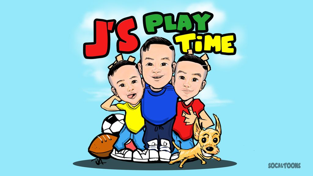 Youtube Channel Kids Caricature Logo