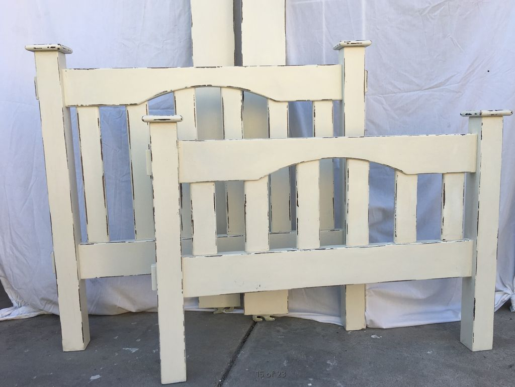 Painting and distressing Beds