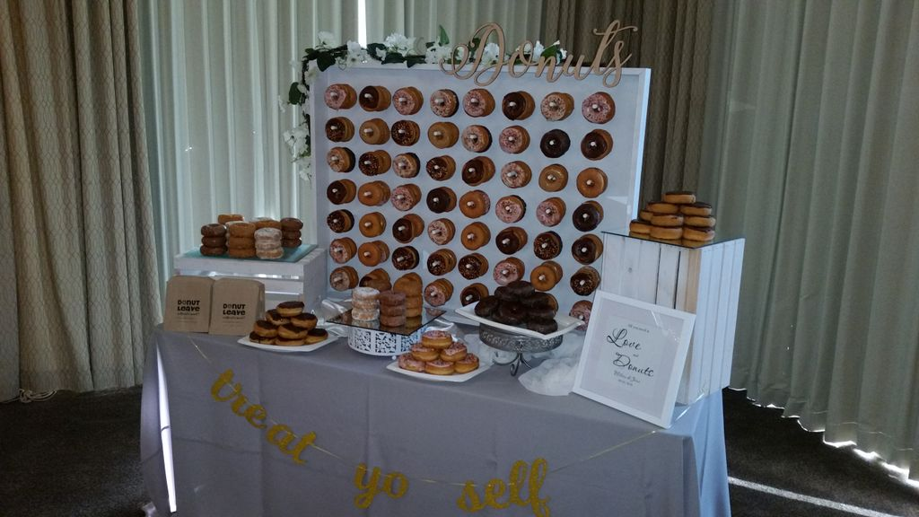 Donut table with donut wall
