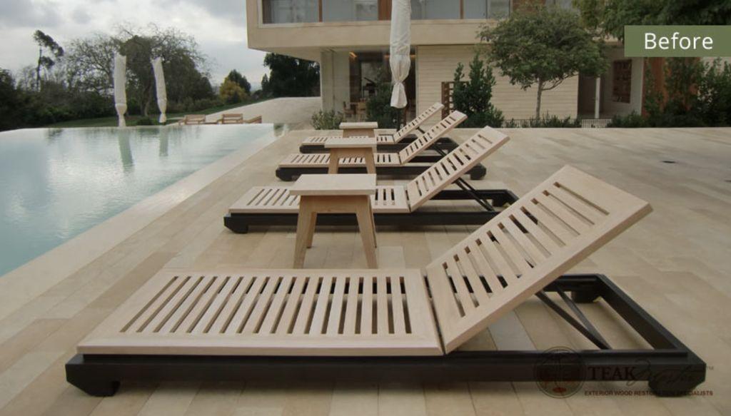 Teak Furniture Refinishing in Santa Monica